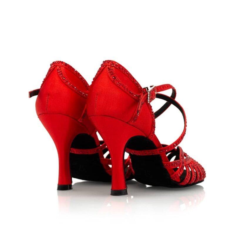 Dansschoenen-rode -salsa schoenen dames salsaschoenen-kizomba-Dansschoenen-bachata-Dansschoenen paar